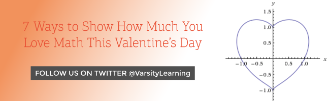 7 Ways to Show How Much You Love Math This Valentine's Day - follow us on twitter