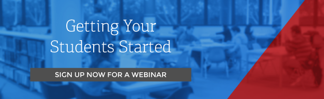 Getting your students started with Varsity Learning - Sign up for a webinar
